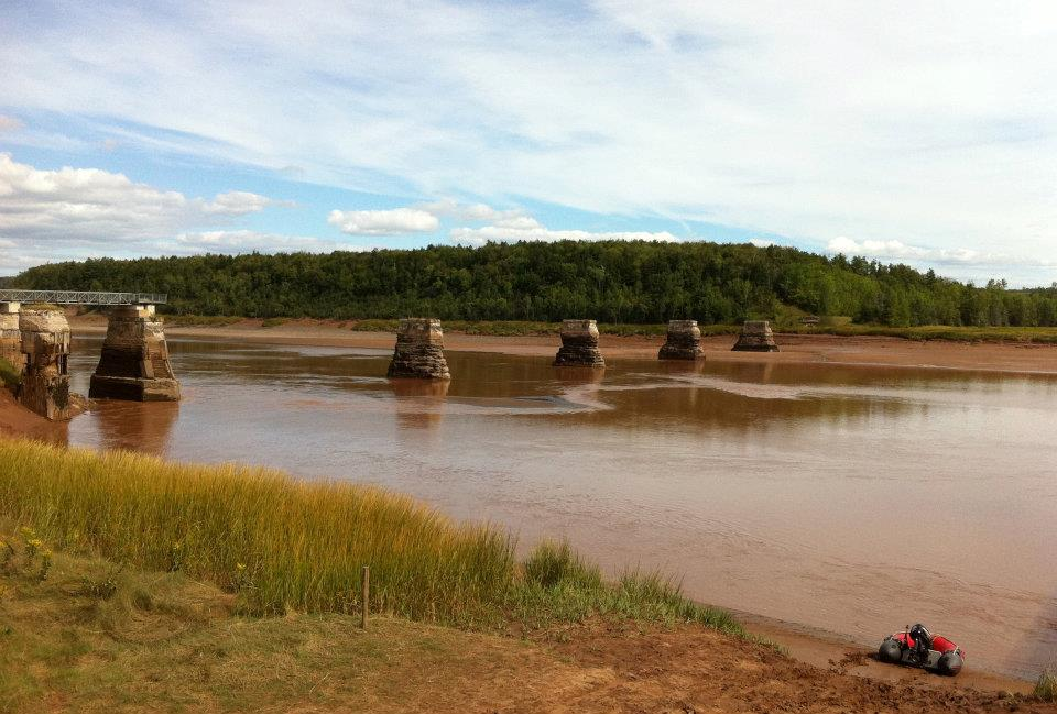 The Shubenacadie River experiences a tidal range of over 30'