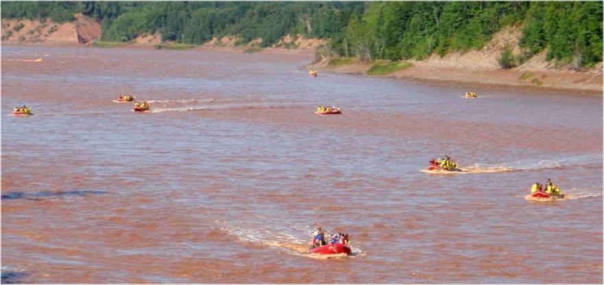 Whitewater Tidal Bore Rafting Tours on the Shubenacadie River, Nova Scotia